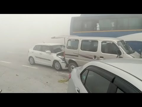 Smog causes series of accidents near Dhankaur