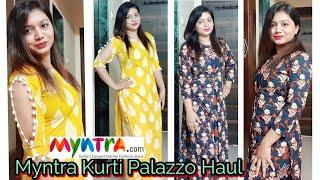 Myntra Kurti Haul | Under Rs. 800/-| Must have Kurta Set| Pink's House