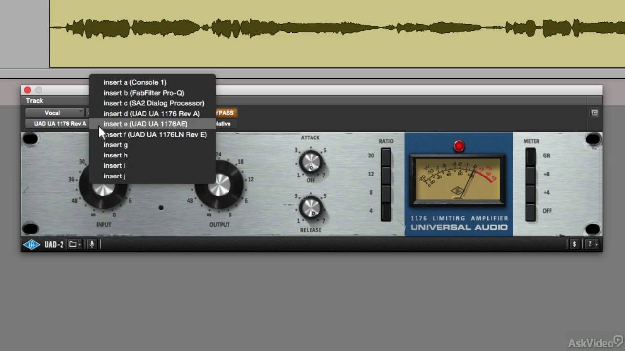 Universal Audio 203: UA Classic Compressors - 2  1176 in Action