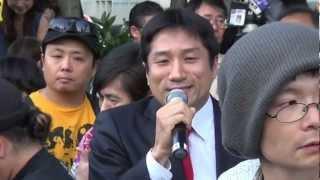 2012.06.29首相官邸前抗議活動《5/10》川田議員、志位議員、福島議員
