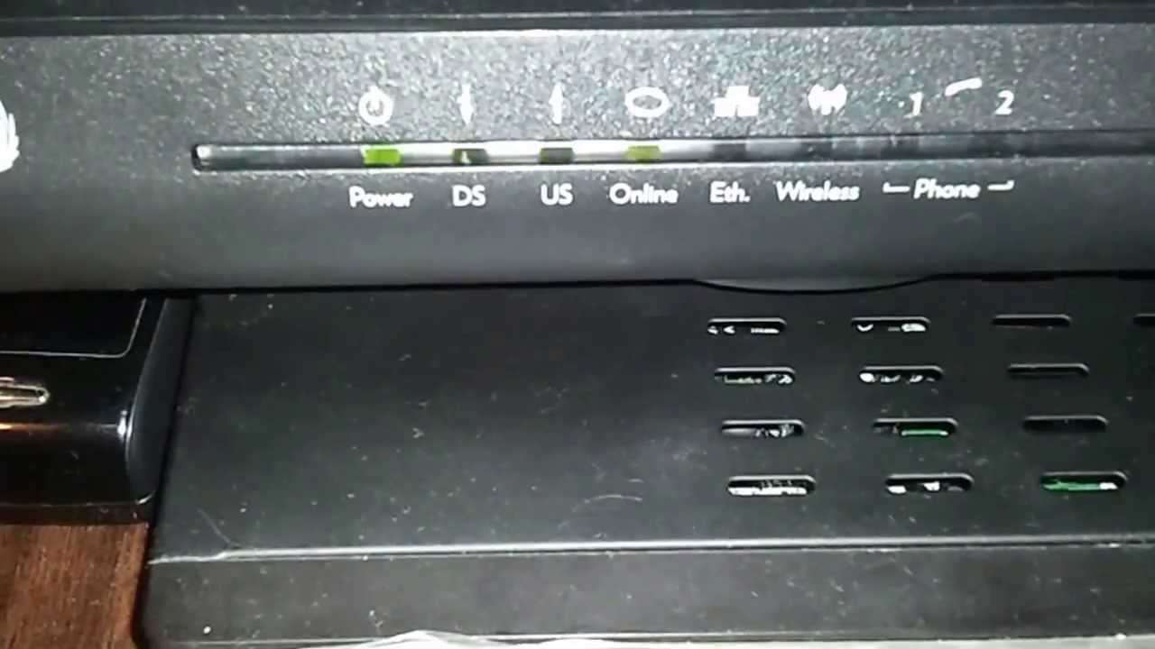 Technicolor Tc7200 Upc Cable Modem Start Up Youtube