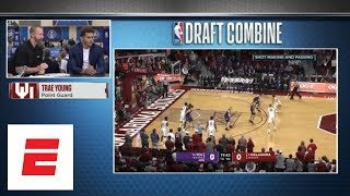 One of our NBA draft experts gives Trae Young scouting report with Young sitting right there | ESPN