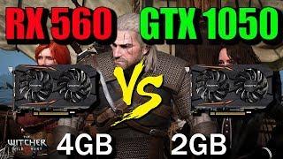 RX 560 4GB vs GTX 1050 Gaming Benchmark