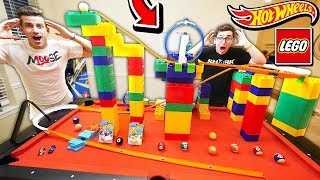 LEGO HOT WHEELS TRACK! (With Unspeakable & Moose)