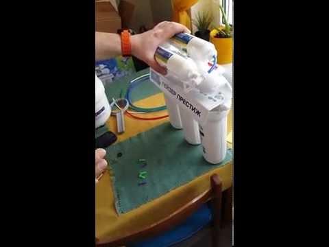 Установка системы обратного осмоса Гейзер Престиж М (Как очистить воду дома)