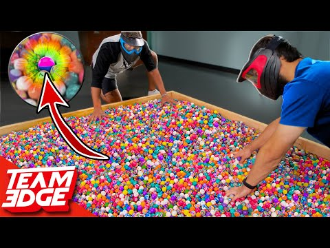 1 Paintball in 5,000 Bouncy Balls | Don't Get Shot First!!