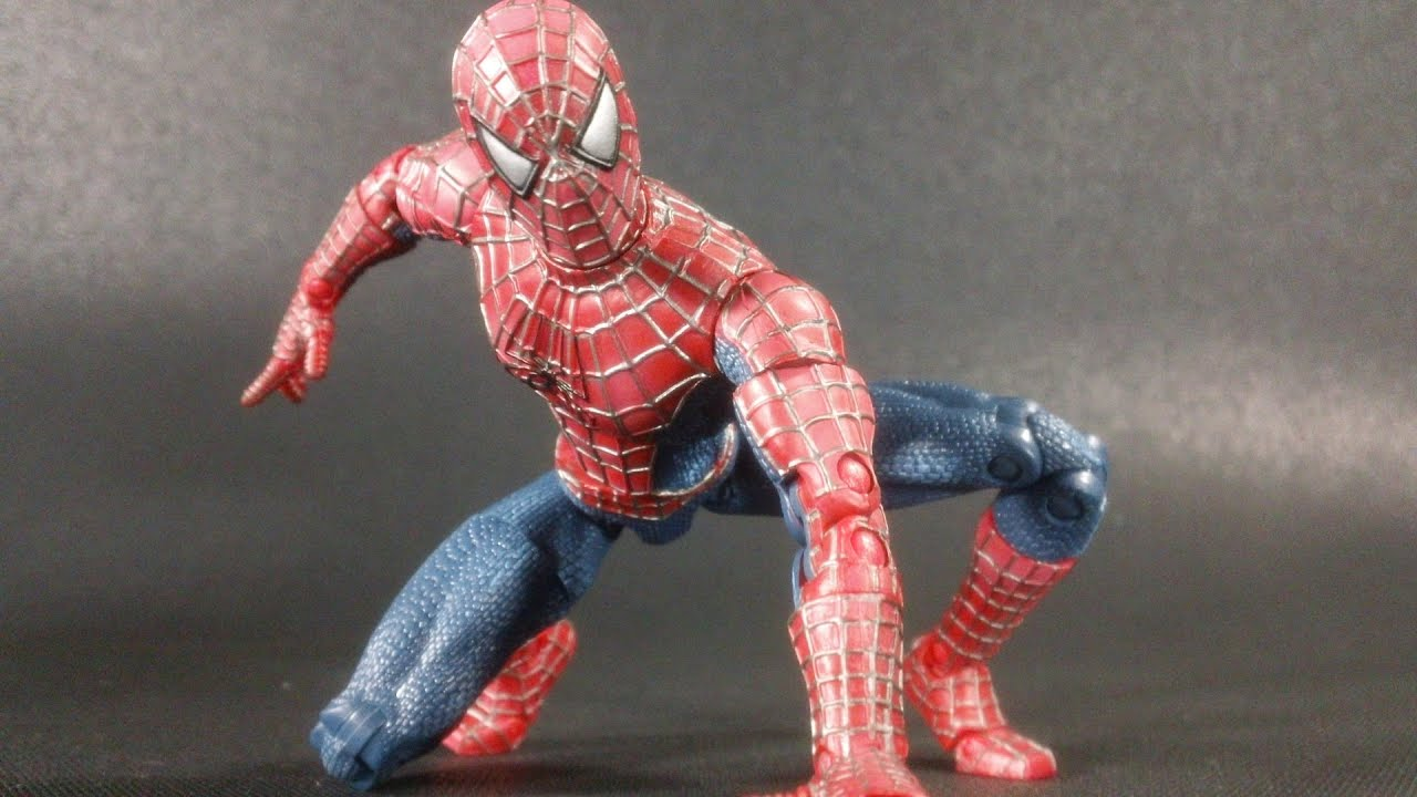 Kids Toys Action Figure: Spider-Man 2002 Super Poseable Movie Figure Review