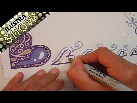 Decorar Carta Corazones Tutorial Ilustra Show