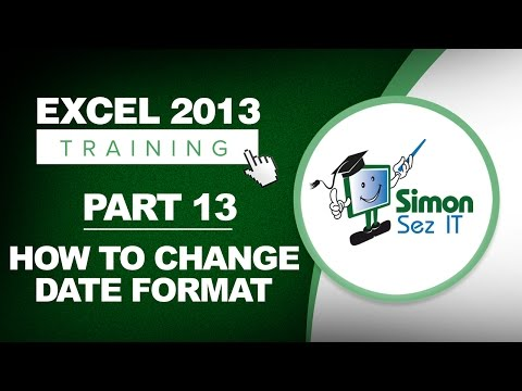 Excel 2013 for Beginners Part 13: How to Change Date Formats