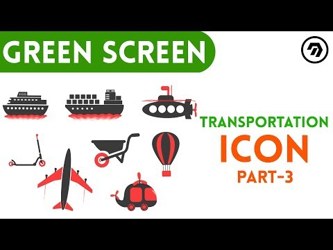 Green Screen Transportation Icon Part 3 | mrstheboss