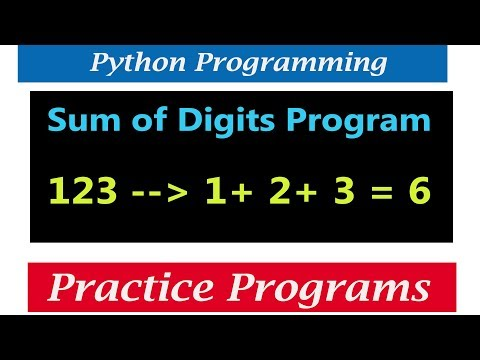 Python Tutorials - Program To Print Sum Of Digits Of Positive Integer Number thumbnail