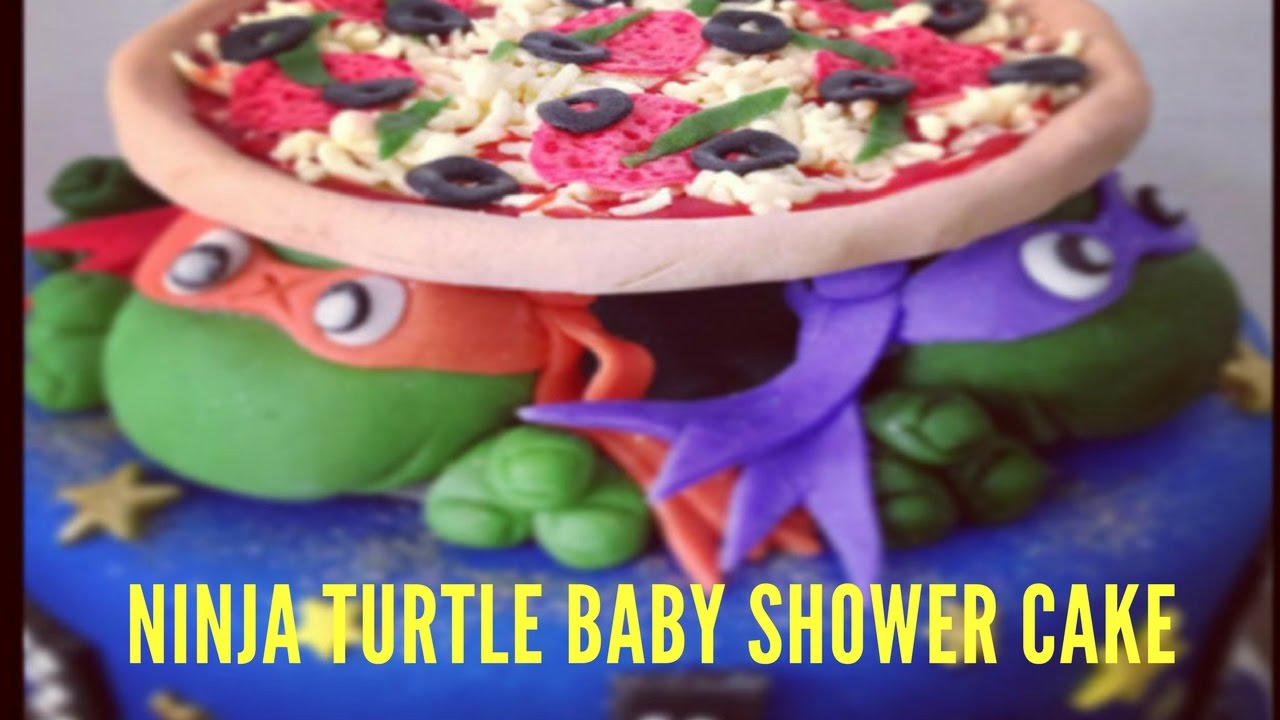 Ninja Turtle Baby Shower Cake Youtube