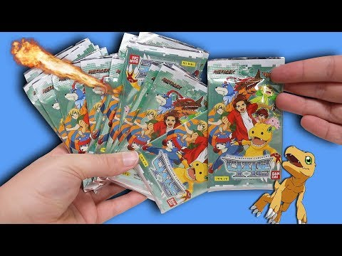 Opening 30 Digimon Digital Monster Booster Packs