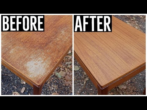 Thrift Store Rescue #13 | Furniture Restoration | Refinishing A Thrift Store Norwegian Teak Table