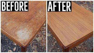 Thrift Store Rescue #13 | Furniture Restoration | Refinishing A Thrift Store Norwegian Teak Table