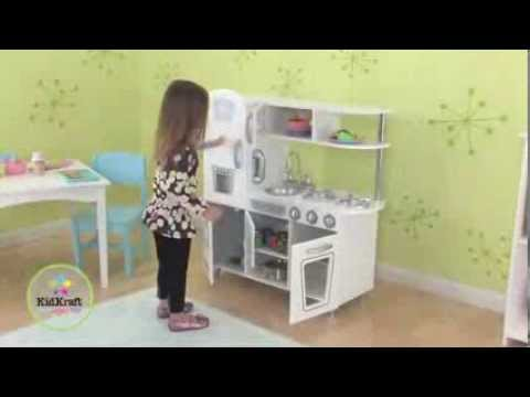 kidkraft white vintage kitchen kids pretend play set 53208 youtube - Kidkraft Vintage Kitchen