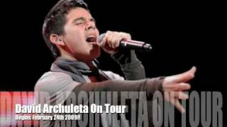 David Archuleta Solo Tour Promotion