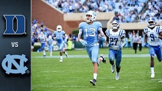 Duke vs. North Carolina Football Highlights (2015)