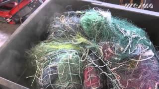 WEIMA Maschinenbau Shredder Spider розтовкти рибальських мереж / fishing nets shredding