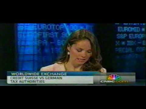 Hot Brunette Reporter on CNBC