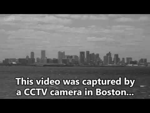 A 37 years old plane landed cctv video and a time traveled