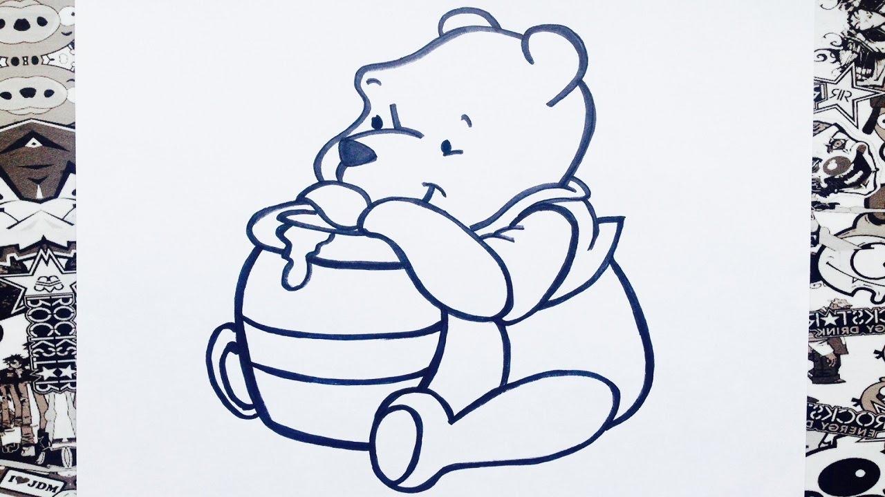 Como dibujar a winnie pooh | how to draw winnie the pooh | como ...