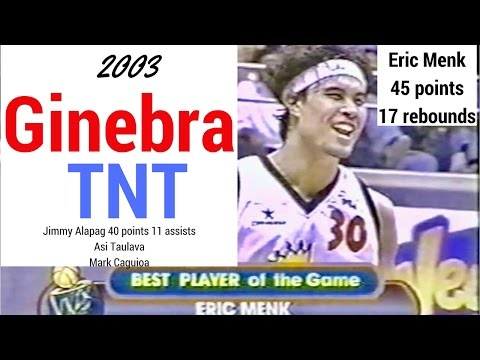 Ginebra vs Talk N Text All-Filipino Cup 2003