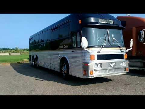 1973 silver Eagle tour bus walk through