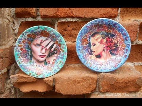 Хенд мейд. Декоративные тарелки.
