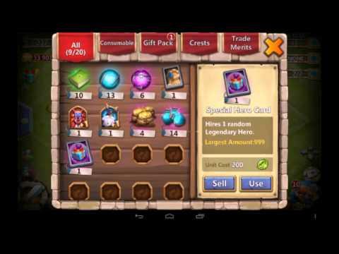 Castle Clash [Daily Reward Hero Card]