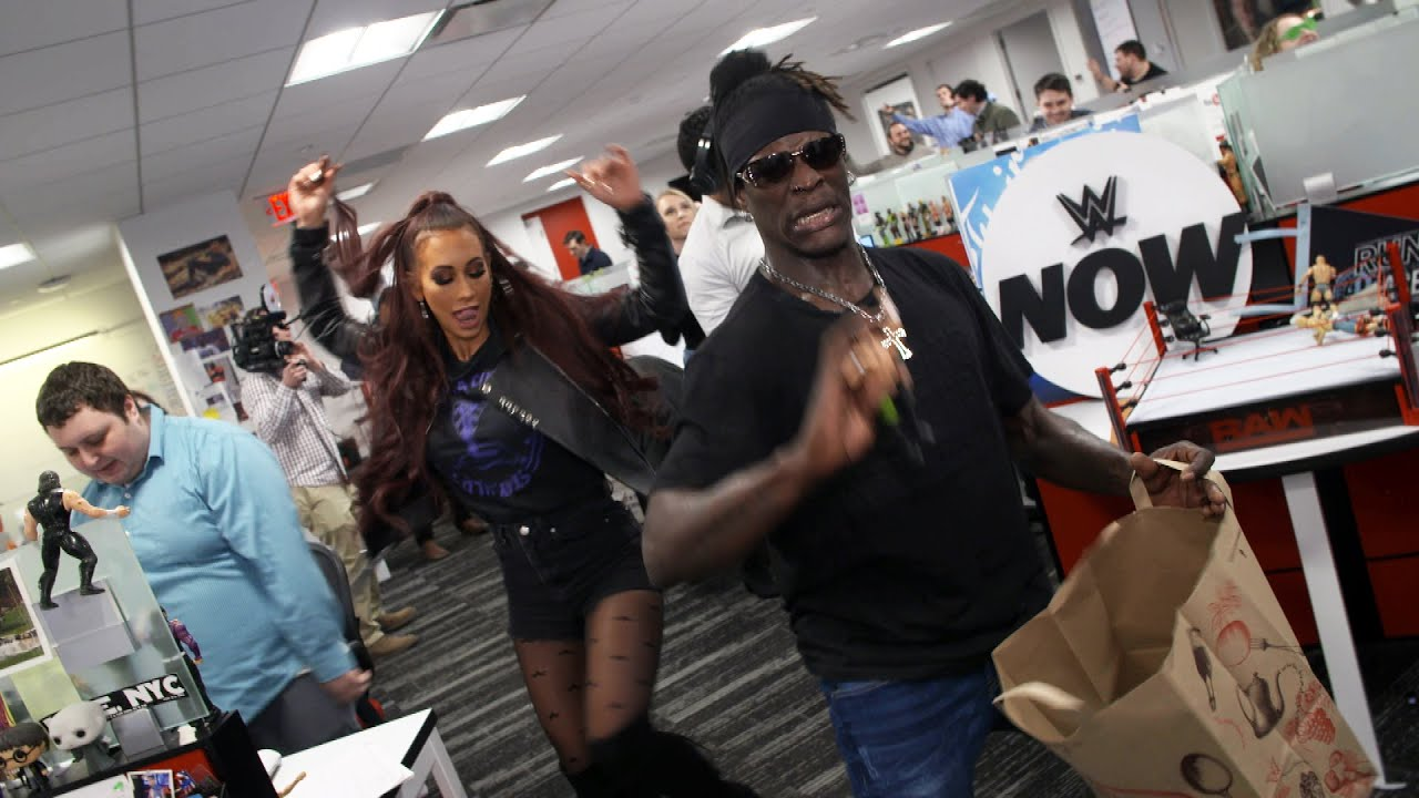 R-Truth & Carmella vacation at WWE Headquarters