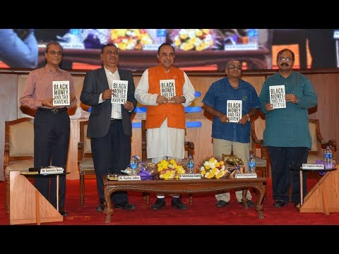 "Dr Swamy released ""Black Money & Tax Havens"", a book by Prof R Vaidyanathan."