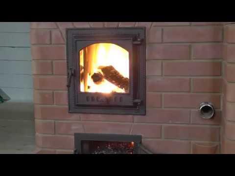отопительная колпаковая печь с хлебной камерой и теплообменником