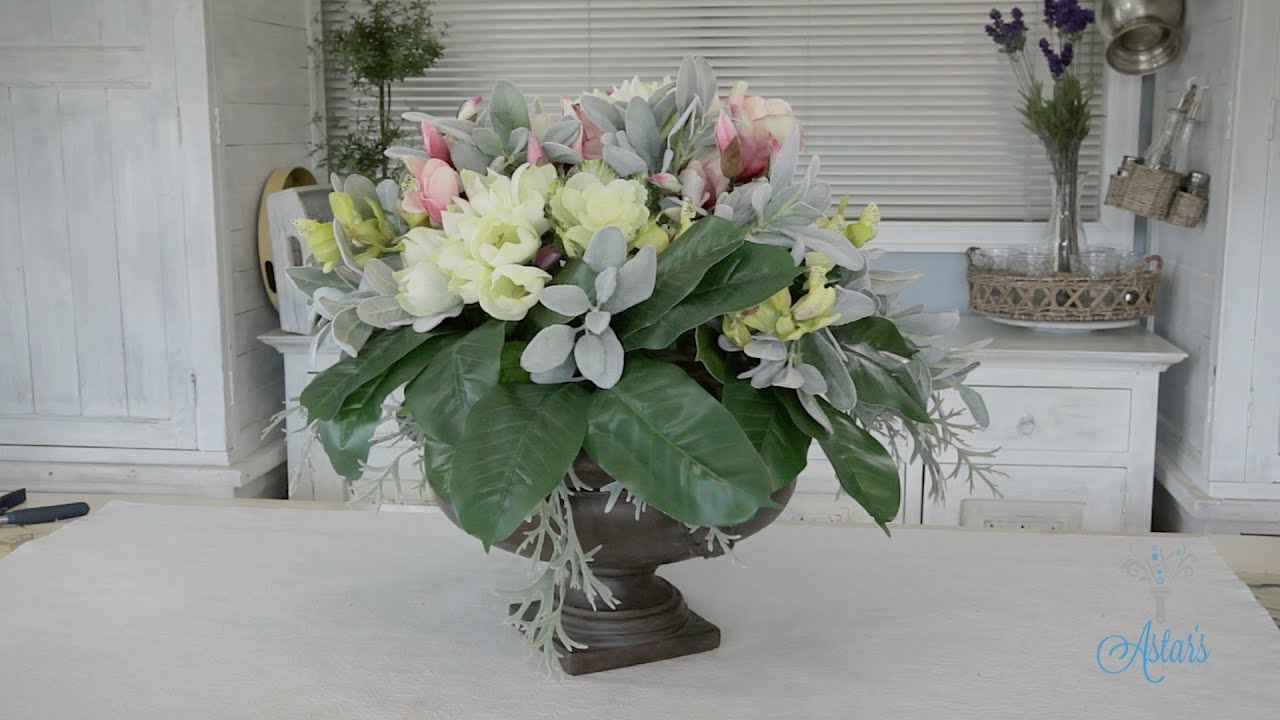 Flowers Floristry Tutorial Round Dining Table Artificial Arrangement