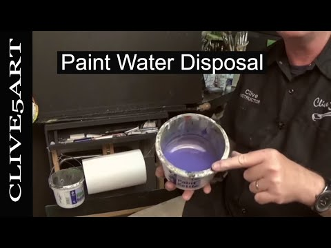Paint Water Disposal | Acrylic painting for beginners | learn to paint | #clive5art