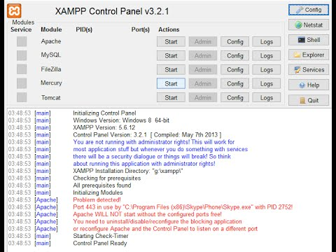 Xampp  Error solved.