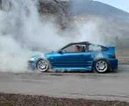 honda crx vtec power burnout youtube. Black Bedroom Furniture Sets. Home Design Ideas