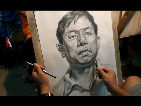 How to Draw Portrait of Old men #3  | Real Time