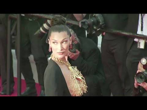 Bella Hadid sparkles on Cannes red carpet
