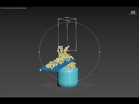 3D Studio  Max   Particle Flow For Beginners ,  3ds Max Particle Flow Et Collisions