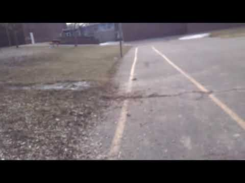 Running Around the Track at North East Elementary School in Ithaca, NY