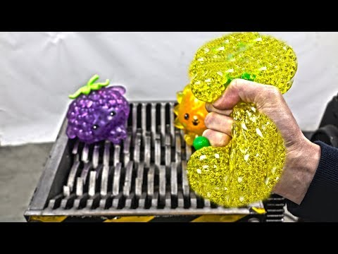 Watch this shredder absolutely destroy some stress balls