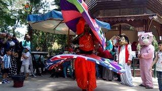 رقص وتنورة.. في إفتتاح وزير الثقافة لمشروع المكتبات المتنقلة بحديقة الحيوان