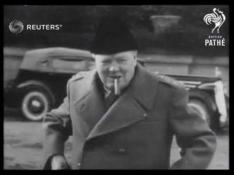 Churchill, Roosevelt and Stalin meet at Yalta (1945)