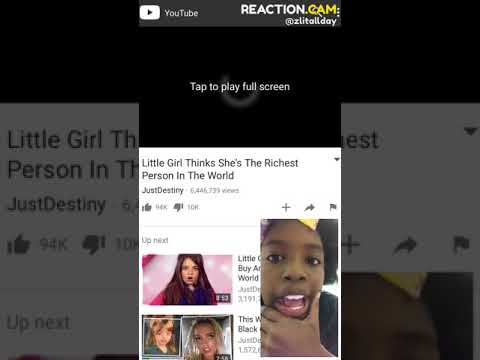Little Girl Thinks She's The Richest Person In The World – REACTION.CAM
