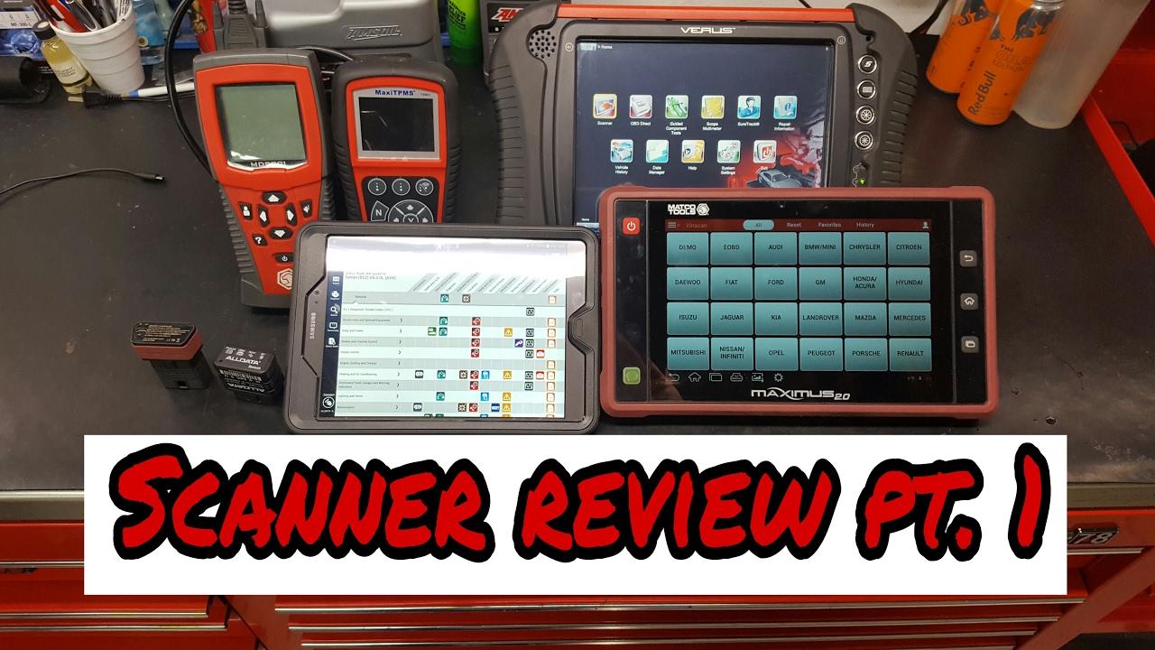 Scanner review pt 1 ( Snapon, Matco, Alldata, Autel)