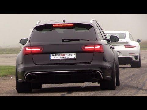 680HP Audi RS6 C7 Avant w/ Akrapovic – REVS, Accelerations, RACE!