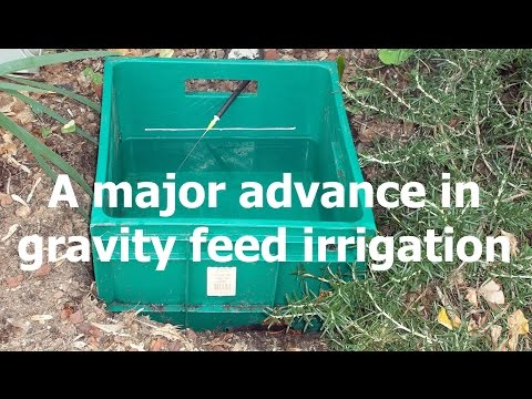 "A major advance in gravity-feed irrigation, see playlist ""popular measured irrigation videos"""