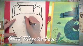 Greek Monster Vase Drawing Video 1