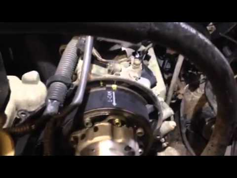 Toyota hydraulic timing belt tensioner trick YouTube